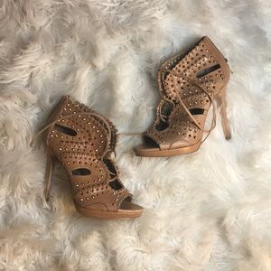SAM EDELMAN studded stilettos 5.5